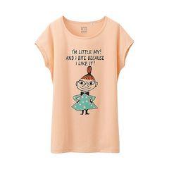 即決★新品★未使用★ユニクロ ムーミンTシャツ リトルミィ 北欧 ピンク L