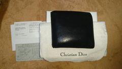 Christian Dior メンズ Dior Homme 黒 二つ折り 財布 大人気正規