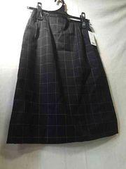 フォークタイトスカート チェック ブラック 11号