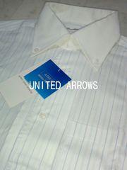 □ユナイテッドアローズ スリムフィット ストライプ ドレスシャツ/メンズ・S☆新品