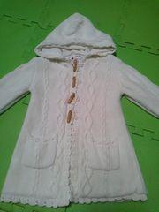 GAPギャップ白のニットコートジャケット90サイズ