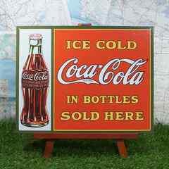 ★新品★【ブリキ看板】Coca-Cola/コカ・コーラ ICE COLD