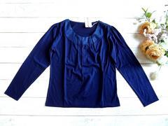 新品 coral タック入り 長袖 カットソー 紺 ネイビー