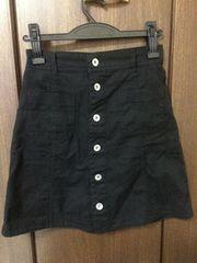 *ナイスクラップ*前ボタン台形スカート
