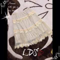 LDS シフォンチュールスカート