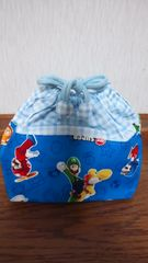 ハンドメイドお弁当袋ニュー・スーパーマリオブラザーズ・Wii