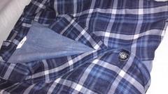 4L大きいサイズチェックシャツコートガーゼネルシャツジャケット
