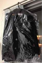 ハニーズ☆黒ロングコート☆ベルト付き☆クリーニング済み