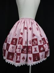 Baby チェス アリス スカート ピンク&エンジ赤美品
