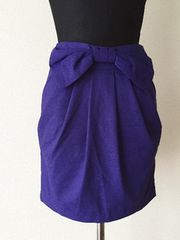 [CECIL McBEE]★紫色・リボン付きスカート・サイズ[S]★