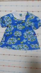 セラフ♪ブルー花柄半袖ワンピース♪95�p