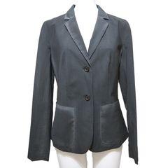 新品プラダPRADA薄手ウールテーラードジャケット グレー黒#40