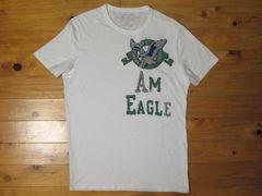 正規品!アメリカンイーグルAMERICAN EAGLE ワッペンTシャツ ホワイト M
