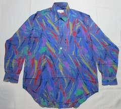 トラサルディ シルクシャツ 柄シャツ 正規タグ付き