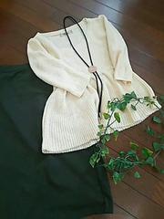 〇FREE'S MART〇裾フレアの七分袖ふわふわニット*・゜