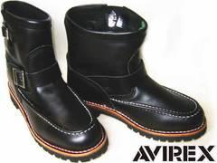 アビレックスAVIREX新品ショート エンジニア ブーツ2535黒us9.5