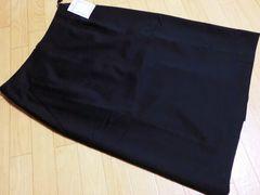 新品 アンタイトル/UNTITLED 膝丈スカート(黒)