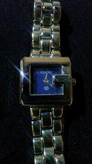 正規ノベルティGUCCIレディース腕時計文字盤ブルー