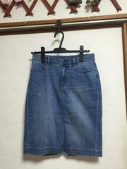 UNIQLOユニクロ WOMANデニムスカートタイトスカート水色ブルーM