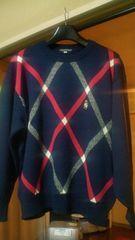 ハーディ・エイミス〓HARDY AMIES SPORT 日本製 毛100% メンズ セーター