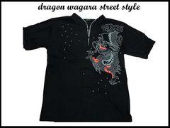 新品 ドラゴン和柄 スタイル ストリート シャツ D11(L) 黒