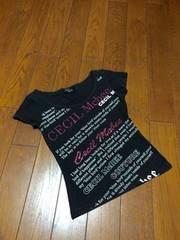 【即決】CECIL  MCBEE◆ロゴスパン付◆スタイリッシュカットソー