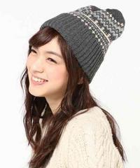 SM2☆ジャガード柄ニット帽