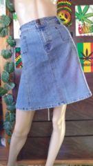 大きいサイズW84/3L4Lウォッシュデニムマーメイドラインスカート
