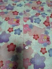 ☆新品=白×桜和柄ダボシャツ100