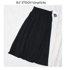 B.C STOCK*simplicite天竺マキシ丈スカート新品ブラック