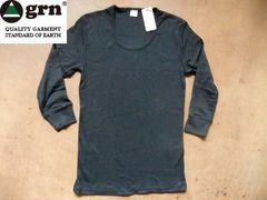 grn(ジーアールエヌ) 年間使える無地7分袖Tシャツ M ブラック