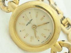 2384復活祭★マリクレール☆ゴールドCOLORブレスレット型レディース腕時計素敵