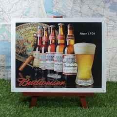 ★新品★【ブリキ看板】Budweiser/バドワイザー 歴代ボトル