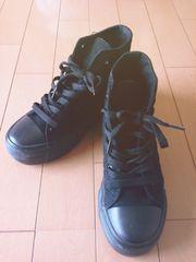 22.5*厚底スニーカー黒