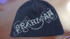 BRAHMANブラフマン/黒×グレー/ニットキャップ/ニット帽