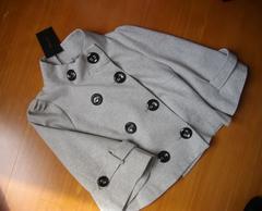 新品INGNI 七分袖上品重ね着ジャケット11号位 グレーイング