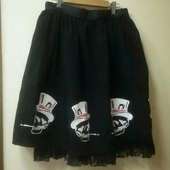 USED★ACDC★スカルプリントスカート
