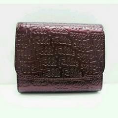 Folli Follieフォリフォリ◆パープル二つ折り財布◆短財布