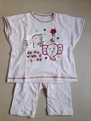 新品未使用  半袖 パジャマ 95 ピンク 送料164円 Tシャツ パンツ
