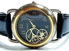 超希少 Fossil フォッシル 超レア 歯車と水を閉じ込めた腕時計