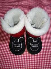 新品冬用【13cm】ミッキーマウス靴