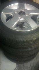 155/65R13 夏タイヤ、アルミ付き4本セット