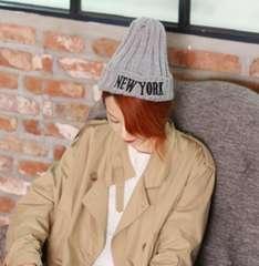 レデイース メンズ ニット帽子サイズフリー グレー