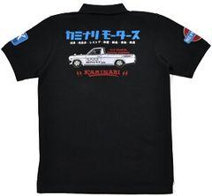 新作/カミナリ雷/ポロシャツ/サニトラ/黒/L/KMPS-200/エフ商会/テッドマン