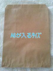 R70サイズ未晒無地平袋40枚★A6が入る紙袋