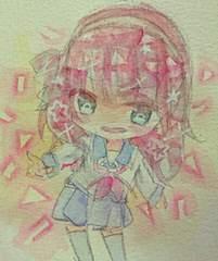 自作イラスト/透明水彩/Angel Beats/ゆりっぺ