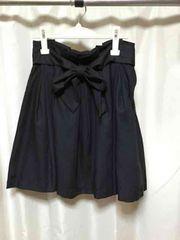 RF黒フレアスカートM膝丈美品