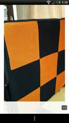 折りたたみベッド低反発マットシングル約1m×2m 黒×オレンジ