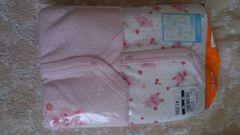 新品80長袖前開きロンパース肌着 未使用 未開封 ピンク