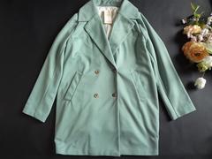 新品 monomori 黄緑 レディース コート 秋 冬 グリーン